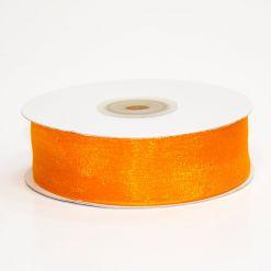 Лента органза 25мм х 30м оранжевая