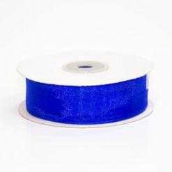 Лента органза 25мм х 30м синяя