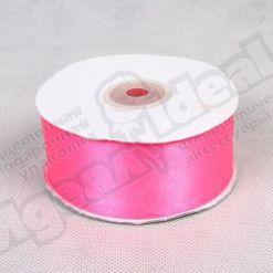 Лента атласная 39мм х 30м К, ярко-розовая
