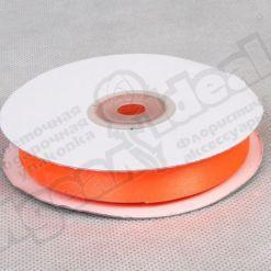 Лента атласная 15мм х 30м К, оранжевая