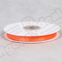 Лента атласная 10мм х 30м К, оранжевая