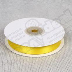 Лента атласная 15мм х 30м К, желтая