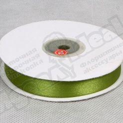 Лента атласная 15мм х 30м К, оливковая