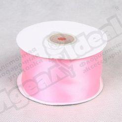 Лента атласная 50мм х 30м К, розовая