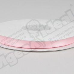 Лента атласная 10мм х 30м К, светло-розовая