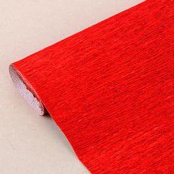 Бумага гофрированная металл, 803 красная, 180 гр., 50х250 см, Cartotecnica Rossi (Италия)