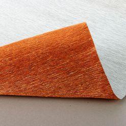 Бумага гофрированная металл, 808 медная, 180 гр., 50х250 см, Cartotecnica Rossi (Италия)