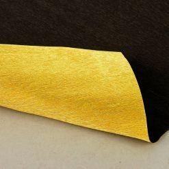 Бумага гофрированная двухсторонняя 801/7 черно-золотая, 180 гр, 50х250 см, Cartotecnica Rossi (Италия)