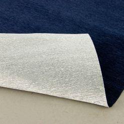 Бумага гофрированная двухсторонняя 802/6 серебряно-синяя, 180гр., 50х250 см, Cartotecnica Rossi (Италия)
