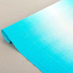 Бумага гофрированная простая-переход, 180гр, 600/2 бело-голубая, 50х250 см, Cartotecnica Rossi (Италия)