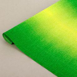 Бумага гофрированная простая-переход, 180гр, 600/5 желто-зеленая, 50х250 см, Cartotecnica Rossi (Италия)