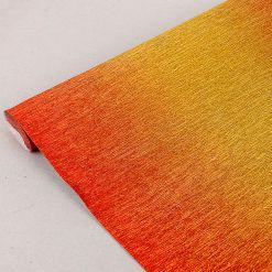 Бумага гофрированная металл-переход, 801/1 красно-золотая, 180 гр., 50х250 см, Cartotecnica Rossi (Италия)