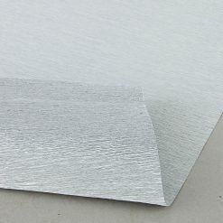Бумага гофрированная металл, 140гр, 912 серебряная, 50х250 см, Cartotecnica Rossi (Италия)