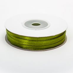 Лента атласная  3мм х 50м К оливковая