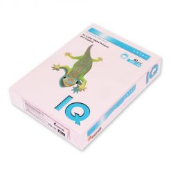 Бумага цветная IQ Color (А4, 80 г/кв.м, OPI74-розовый фламинго, 500 листов)