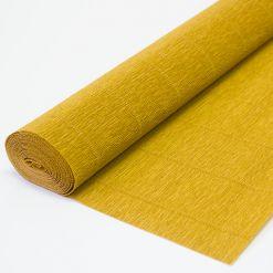Бумага гофрированная простая 967 светло-коричневая, 140гр, 50х250 см, Cartotecnica Rossi (Италия)