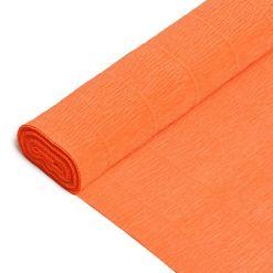 Бумага гофрированная простая 17E/6, оранжевый, 180гр, 50х250 см, Cartotecnica Rossi (Италия)