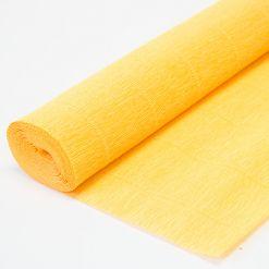 Бумага гофрированная простая 976 светло-оранжевая, 140гр, 50х250 см, Cartotecnica Rossi (Италия)