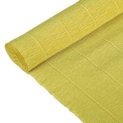 Бумага гофрированная простая 579 светло-оливковая, 180гр, 50х250 см, Cartotecnica Rossi (Италия)