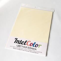Бумага цветная IQ Color (А4, 80 г/кв.м, BE66 ванильно-бежевый, 20 листов)