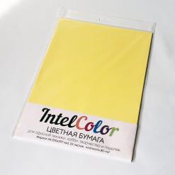 Бумага цветная IQ Color (А4, 80 г/кв.м, CY39 канареечно-желтый, 20 листов)