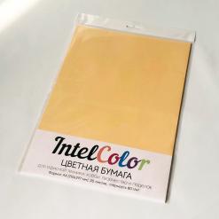 Бумага цветная IQ Color (А4, 80 г/кв.м, GO22 золотистый, 20 листов)