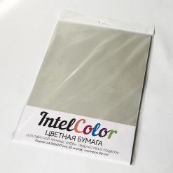 Бумага цветная IQ Color (А4, 80 г/кв.м, GR21 серый, 20 листов)