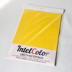 Бумага цветная IQ Color (А4, 80 г/кв.м, IG50 горчичный, 20 листов)