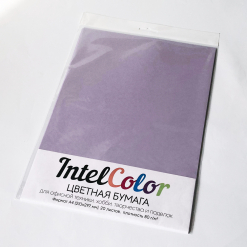 Бумага цветная IQ Color (А4, 80 г/кв.м, LA12 бледно-лиловый, 20 листов)