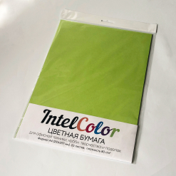 Бумага цветная IQ Color (А4, 80 г/кв.м, LG46 зеленая липа, 20 листов)