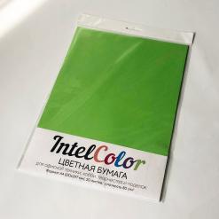 Бумага цветная IQ Color (А4, 80 г/кв.м, MA42 ярко-зеленый, 20 листов)