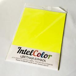 Бумага цветная IQ Color (А4, 80 г/кв.м, NEOGB желтый неон, 20 листов)