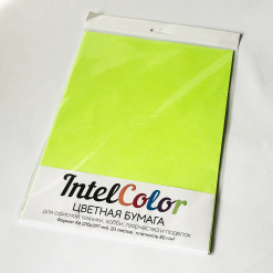 Бумага цветная IQ Color (А4, 80 г/кв.м, NEOGN зеленый неон, 20 листов)