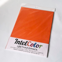 Бумага цветная IQ Color (А4, 80 г/кв.м, OR43 оранжевый, 20 листов)