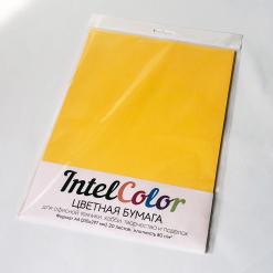 Бумага цветная IQ Color (А4, 80 г/кв.м, SY40 солнечно-желтый, 20 листов)