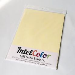 Бумага цветная IQ Color (А4, 80 г/кв.м, YE23 желтый, 20 листов)
