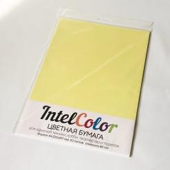 Бумага цветная IQ Color (А4, 80 г/кв.м, ZG34 лимонно-желтый, 20 листов)
