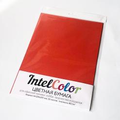 Бумага цветная IQ Color (А4, 80 г/кв.м, ZR09 кирпично-красный, 20 листов)