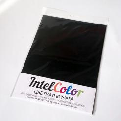 Бумага цветная IQ Color (А4, 80 г/кв.м, В100 черный, 20 листов)