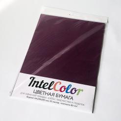 Бумага цветная IntelColor (А4, 80 г/кв.м, Ежевичный IT44A, 20 листов)