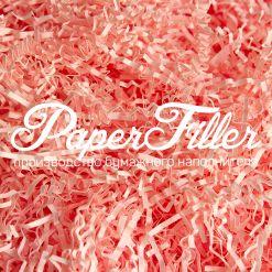 Бумажный наполнитель. Розовый фламинго, 2 мм, 1 кг