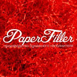 Бумажный наполнитель. Кораллово-красный, 2 мм, 1 кг