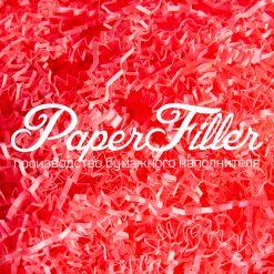 Бумажный наполнитель. Розовый неон, 2 мм, 1 кг