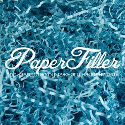 Бумажный наполнитель. Голубой лед, 2 мм, 50 гр