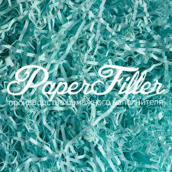 Бумажный наполнитель. Светло-голубой, 2 мм, 50 гр