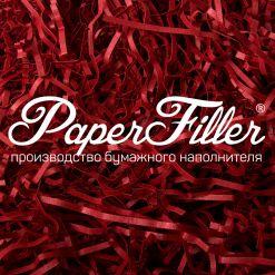 Бумажный наполнитель. Curious Красный, 2 мм, 1 кг