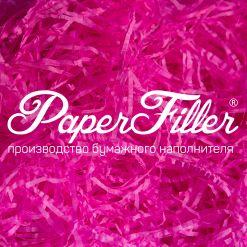 Бумажный наполнитель. Ярко-розовый, 2 мм, 50 гр