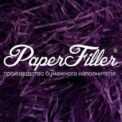 Бумажный наполнитель. Фиолетовый, 2 мм, 50 гр