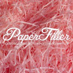 Бумажный наполнитель. Светло-розовый, 2 мм, 50 гр
