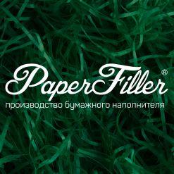 Бумажный наполнитель. Зеленый, 2 мм, 500 гр